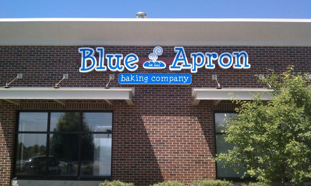 Blue Apron Channel Letters Lyon Twp