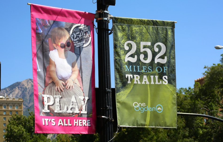 Lampost banners for local events