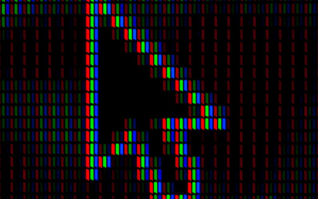 Pixelated arrow